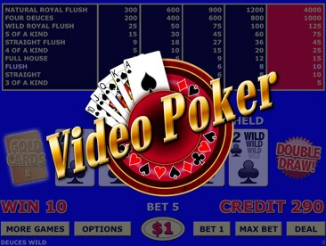 Free Video Poker online at myrouletteguide.com